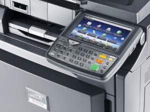 Impresora Kyocera laser color TASKalfa 4551ci Tecnycopia Foto pantalla táctil
