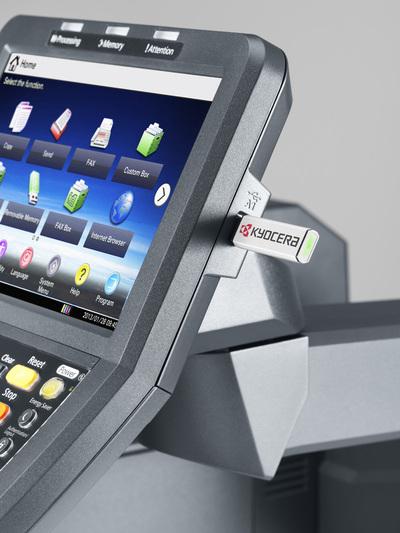 Impresora Kyocera laser color TASKalfa 7551ci Tecnycopia Pantalla USB