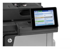 Impresora multifunción HP Láser color HP M680 detalle pantalla táctil 8 pulgadas